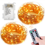 CL-BDf-5 Christmas 100 Clear White Wire Light Set Christmas Decorations