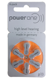 HB-BE-3 Power One Mercury Free Hearing Aid Batteries Size P312