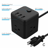PP-BHi-4 PowerPort Cube USB Power Strip