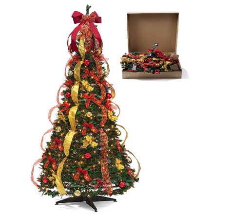 CT-FFI-10 hristmas Tree Fully Decorated Pre-lit 6 Ft