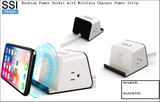 PP-HJj-4 Desktop Power Socket with Wireless Charger Power Strip