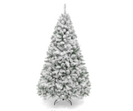 CT-CEI-10 6ft Premium Snow Flocked Hinged Artificial Pine Christmas Tree