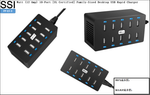 PP-EF-3 60 Watt (12 Amp) 10-Port [UL Certified] Family-Sized Desktop USB Rapid Charger