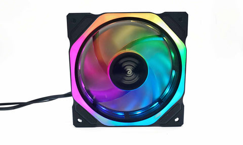 LF-BJf-0 12cm External Ring Luminescent Fan<4+3PIN+ARGB>