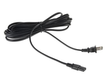 Replacement Power Cable for PS4 Slim and Xbox One S / X - 12 Foot Cord, Black