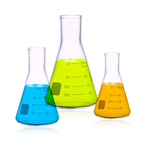 Erlenmeyer Flasks 50ml, 100ml, 150ml (3 Sizes)