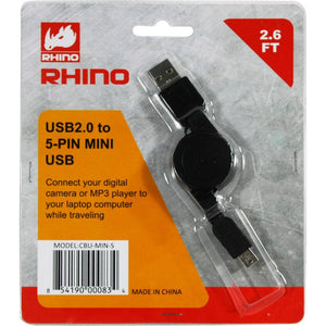 CBU-MIN-S 2_USB to 5-Pin Mini-B cable