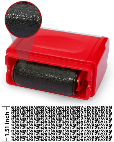 AS-122 Wide Identity Theft Protection Roller Stamp