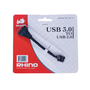 AS-12 USB 3.0 20-pin(Male) to USB 2.0 9Pin(Female)Cable