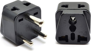 2 in 1 USA to India Adapter Plug (Type D)