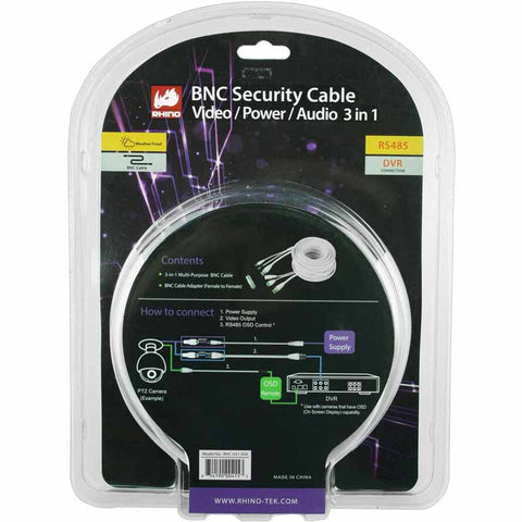 RHC-031-050 BNC Security Cable 