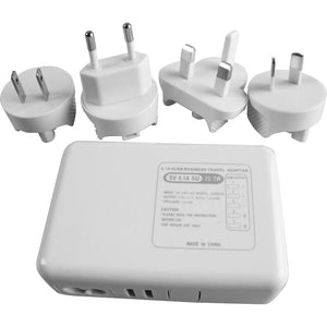 AS-60 UNIVERSAL 5 USB PORT  AC WALL CHARGER TRAVEL KIT