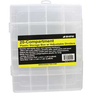 AS-86 Rhino 20 Comp. Storage Adjustable Dividers