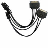 RC-047 Dual SATA(Male) 6+2Pin PCI-E(Male) Y-Splitter