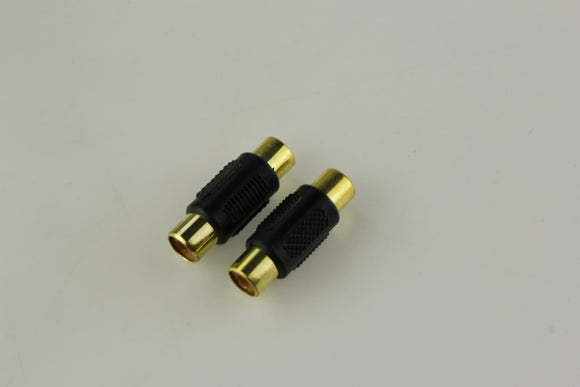 RCN-023 Female to Female Gold RCA Coupler Joiner Adapter