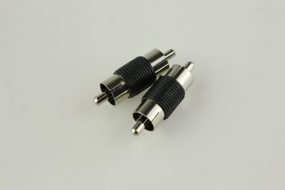 RCN-022 RCA Male Plug to RCA Male Plug Audio Coupler Adapter