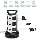 PP-ECf-3 Power Strip Tower  Surge Protector Electric Charging Station 3000W