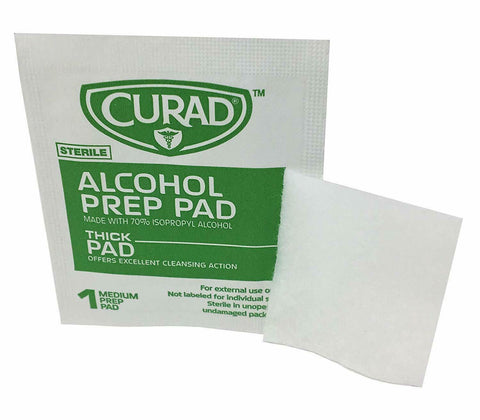 Curad Alcohol Prep Pads — 100 Count, Thick