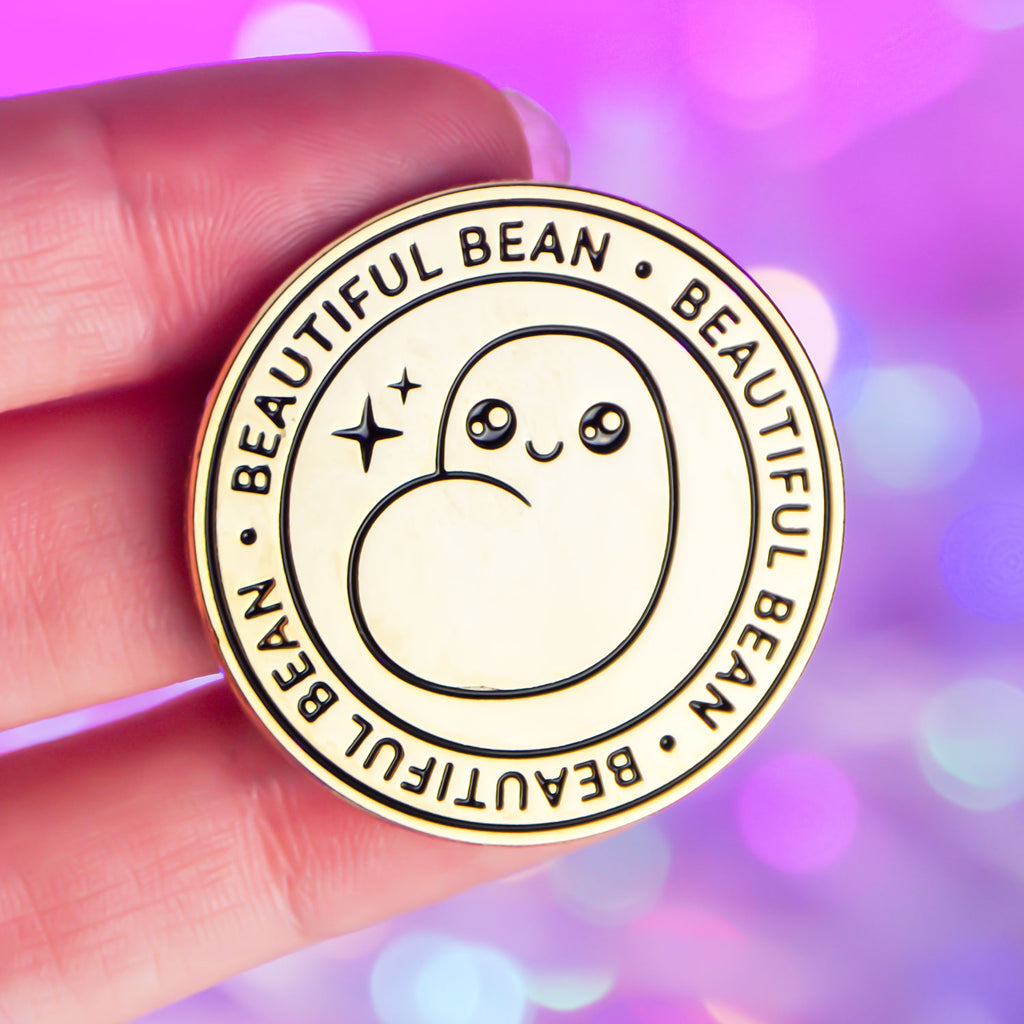 Beautiful Bean Pin - Twitch Stream Merchandise