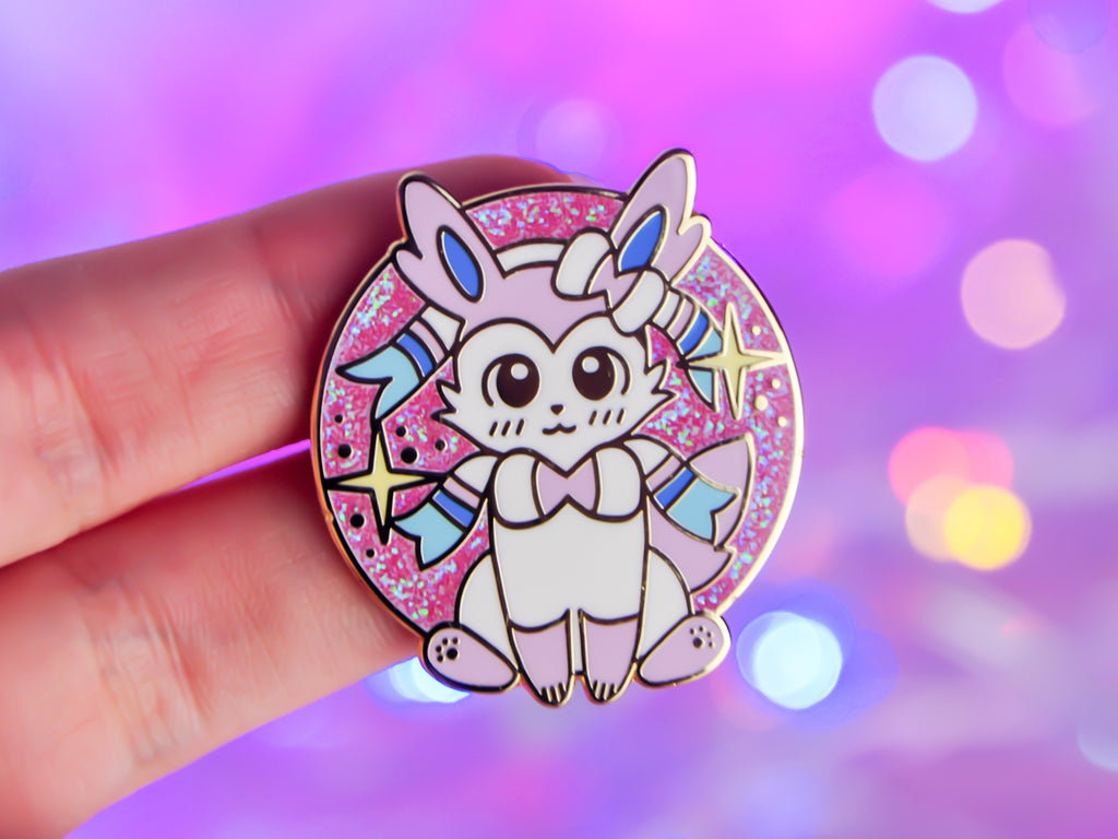 Eeveelution Set - Sylveon - Alternative Glitter Version (Pink/Blue Duo Chrome)
