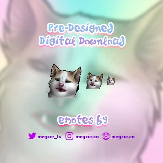 Banana Cat Meme - Pre-Made Twitch Emote Digital Download