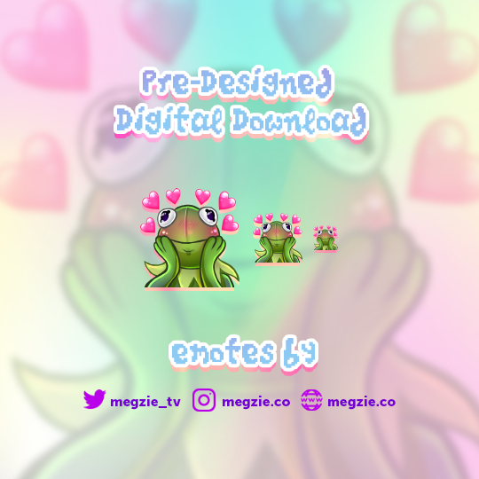 Super Love Kermit - Pre-Made Twitch Emote Digital Download
