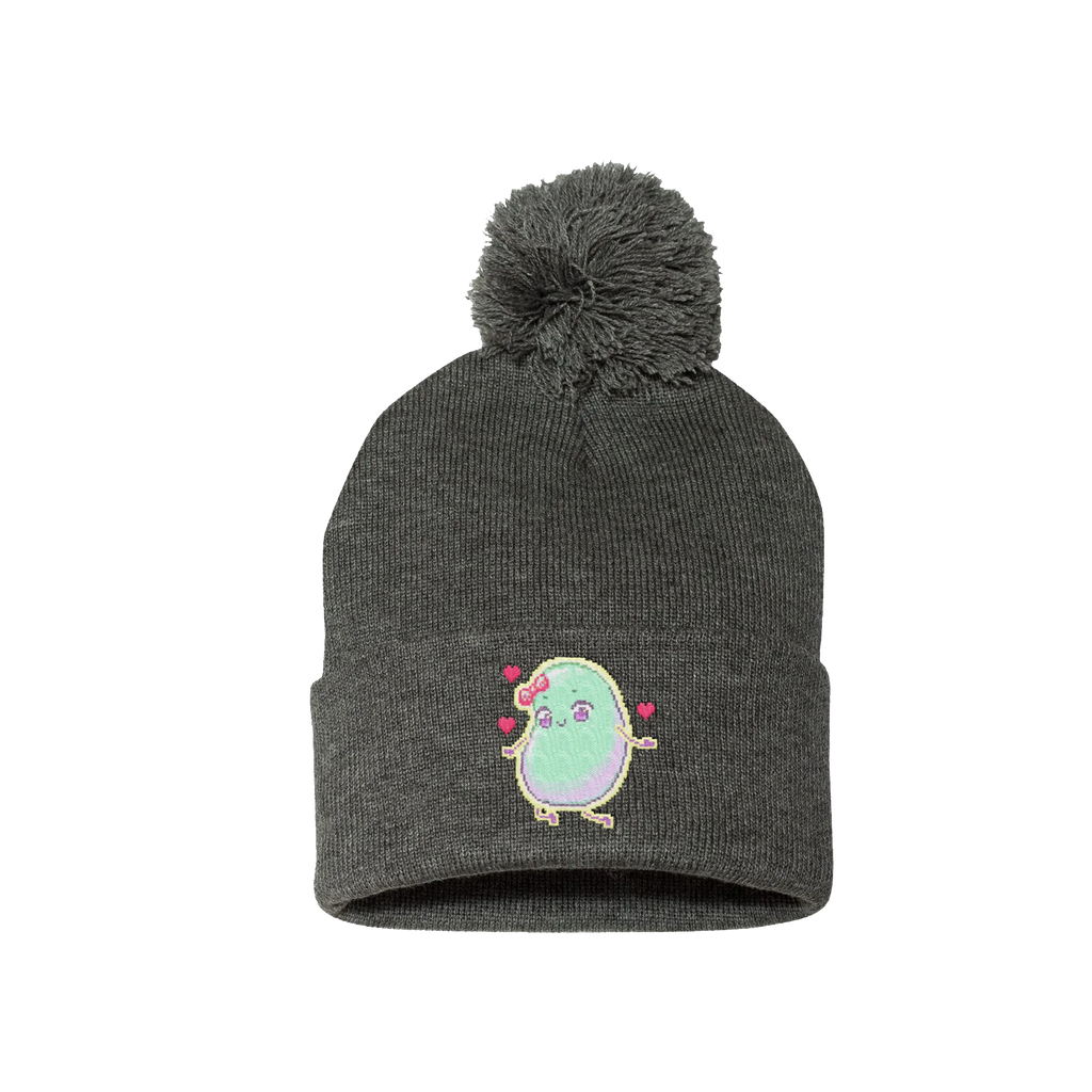 "Megzie ""Beautiful Bean"" Pom Pom Beanie"