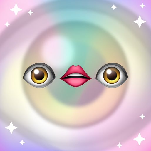 Eye and Lip Emoji - Pre-Made Twitch Emote Digital Download
