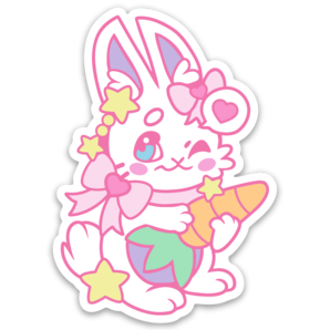 Food Pal - Bunny - Matt Vinyl Sticker