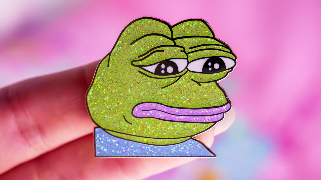 Feels Pastel Pepe Pin - Glitter Version
