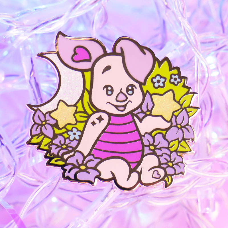 Whimsical Pig Pin (Piglet from Winnie the Pooh)