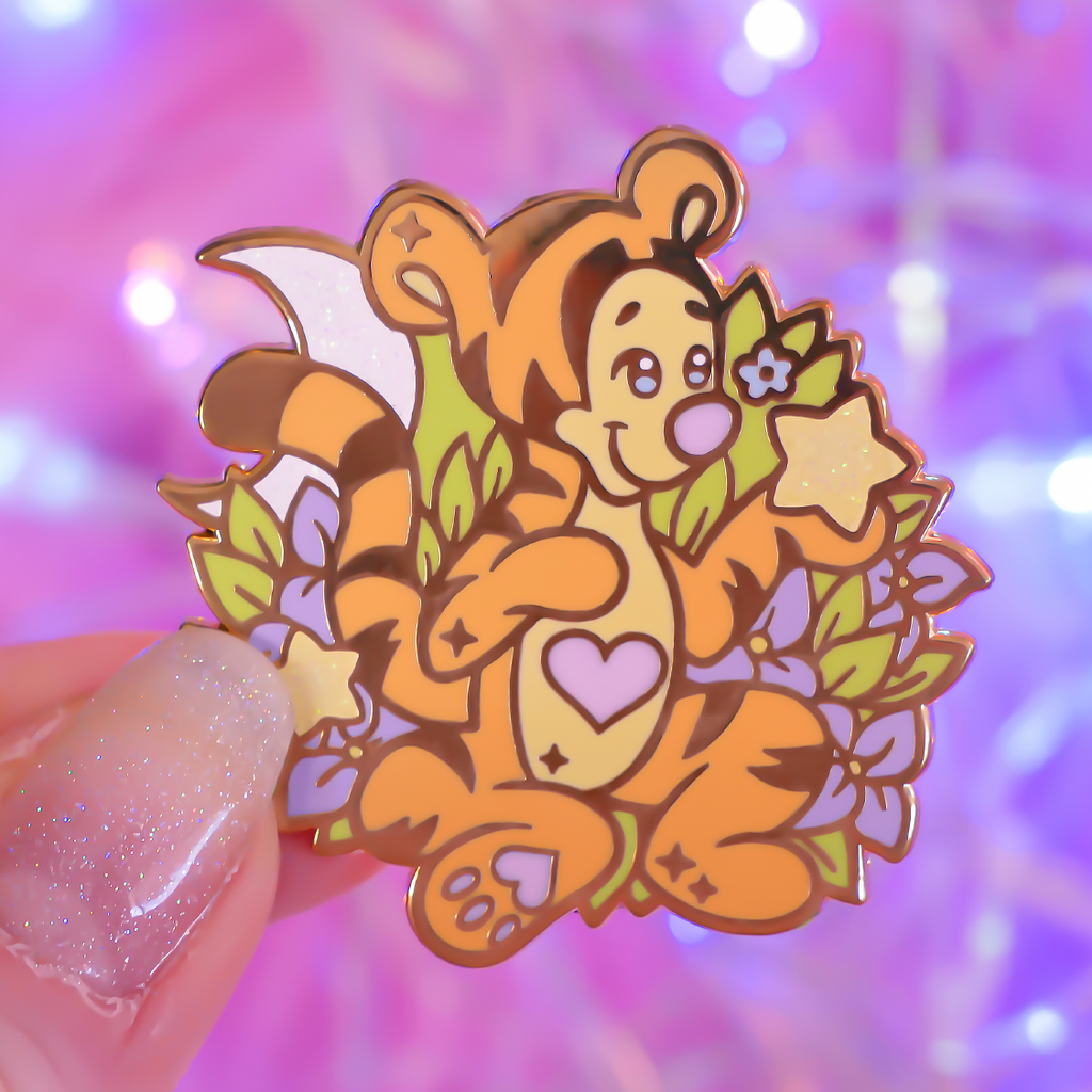 Whimsical Tiger Pin (Tigger from Winnie the Pooh)