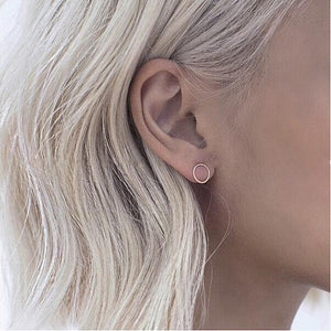 Hollow Circle Stud Earrings