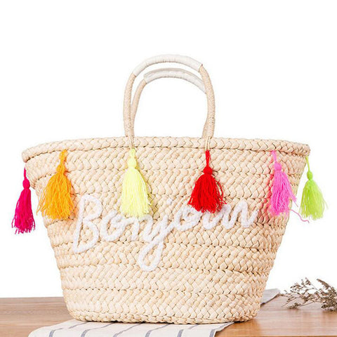 Hot Summer Straw Beach Handbag