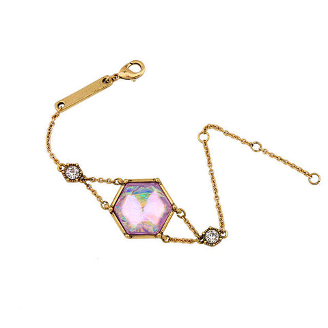 Simple Opal Hexagon Bracelet