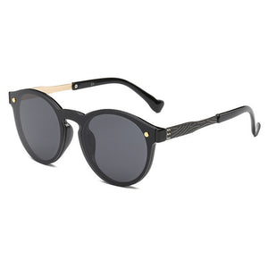 Vintage Round Luxury Mirror Sunglasses