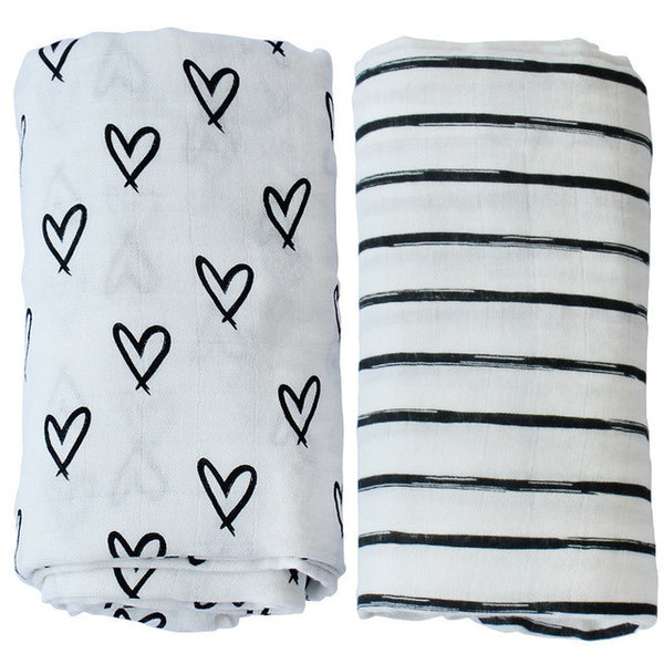Bamboo Muslin Cotton Swaddle (Set of 2)