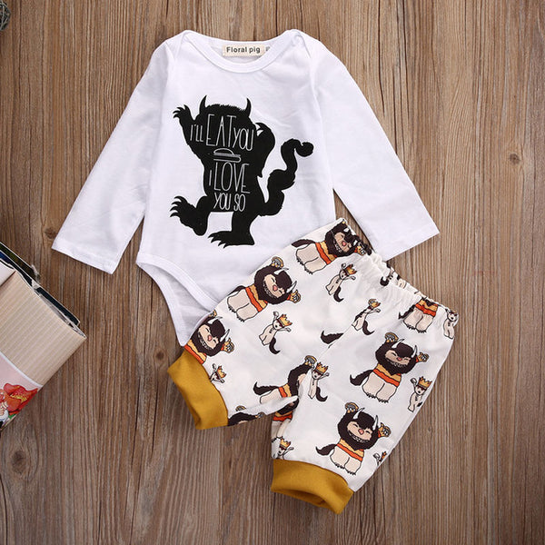 """Austin"" Wild Ones Pajama Set (2 pc)"