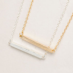 Square Bar Gold/Silver Necklace