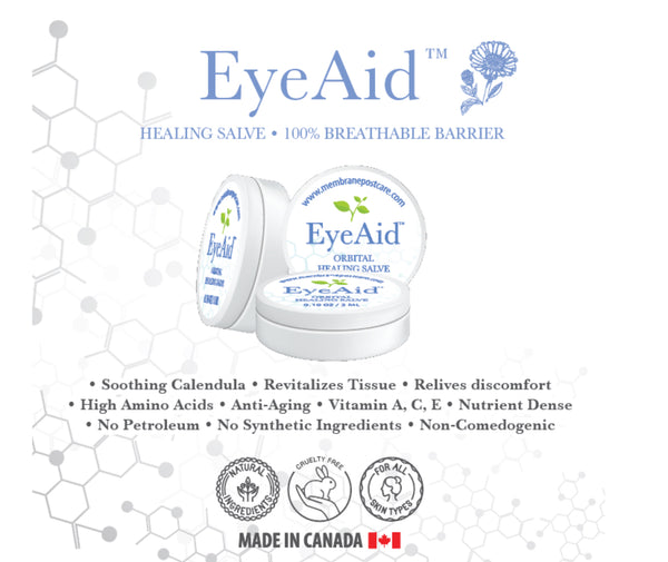 (5 PACK) EYEAID - Sampler pack (3ml button jars) - Membrane Post Care Products Inc.
