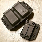 Dual 9mm/40cal double-stack magazine carrier