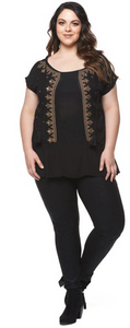 Dex Plus Embroidered Blouse