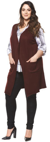 Dex Plus Sleeveless Cardigan