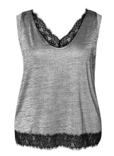 Dex Plus Sleeveless Top With Lace Hem