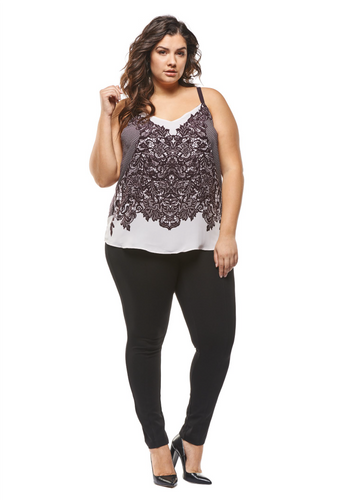 Dex Plus Lace Print Cami Reversible