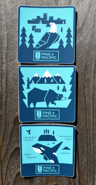 STICKERS - CITY/COAST/MOUNTAIN SERIES
