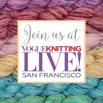 Come see Pam Powers Knits at Vogue Knitting Live San Francisco!