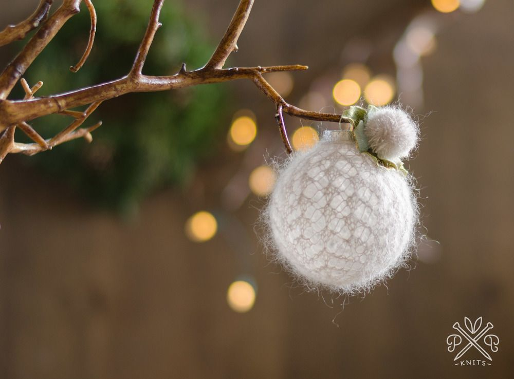 Pam Powers Knits Snowball Ornament Pattern