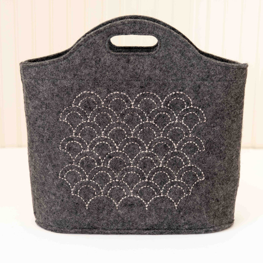 Wool-on-Wool Sashiko Embroidery
