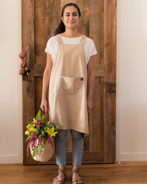 Apron - Linen Cross-back